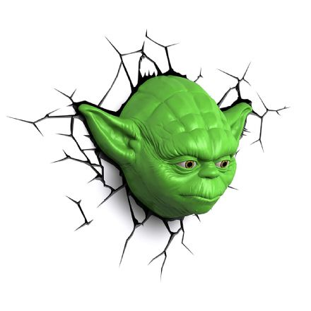 Star Wars Yoda Head 3D LED  Light